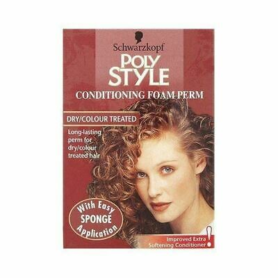 Schwarzkopf Poly Conditioning Foam Perm For Dry Treated Hair 75ml New