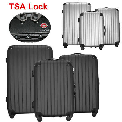 "20"" 24"" 28"" Set of 3 Luggage w TSA Lock Travel Bag Trolley Spinner Suitcase"