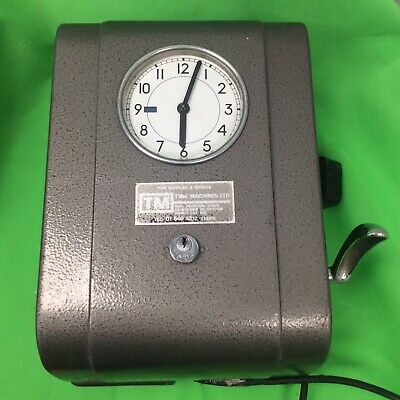 Vintage Clocking-in Time Clock Theatrical Prop Industrial Decor Time Recorder