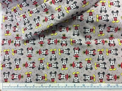 MICKEY MOUSE /& MINNIE mouse FABRIC PLAYTIME FRIENDS  NEW  COTTON BTY CP57540