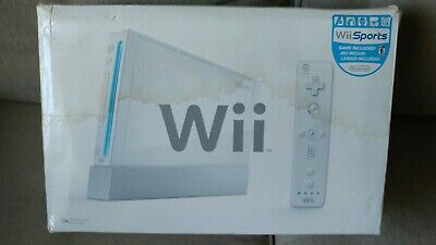 Nintendo Wii Console System White Complete Kit Nunchuck Controller Sensor Bar