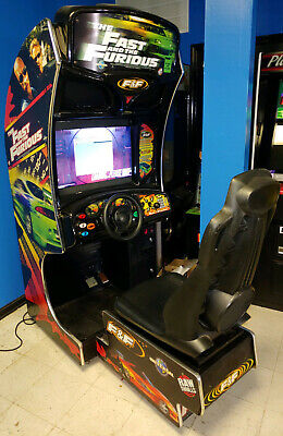 """FAST AND FURIOUS Arcade Video Game! Sit Down Driving Game! 27"""" LCD Monitor!"""