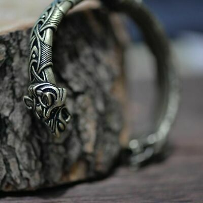 Viking Bracelet and Bangle Wolf Head Bracelet For Men and Women Talisman Jewelry