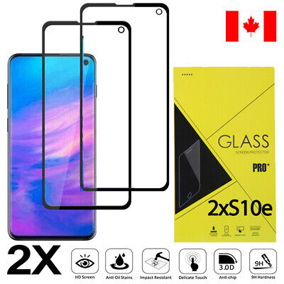 2x-Pack Full Cover 2.5D Tempered Glass Screen Protector for Samsung Galaxy S10e