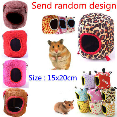 Small Animal Pet Rat Hamster House Bed Winter Warm Fleece Pet Rabbit Guinea Pig