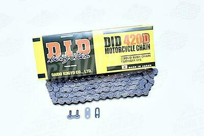 D.I.D DID 520 VO Oring Motorcycle Drive Chain Natural with Clip Master Link