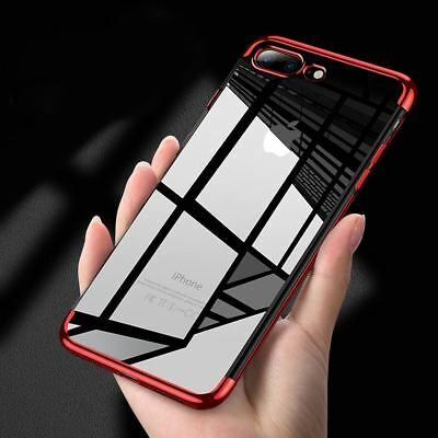 for iPhone XS Max XR 8 7 6S Plus ShockProof Hybrid Bumper Clear Silicone Case CA