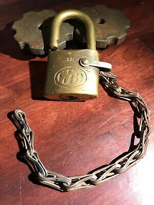 Antique Solid Brass Lock NO KEY Paper Weight Collectible Padlock Lock