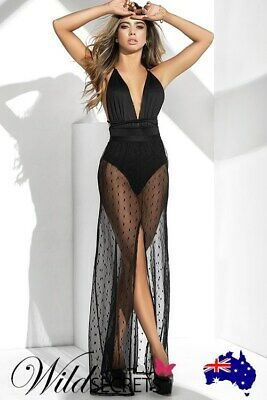 NEW Mapale by Espiral Hot Spot Teddy with Mesh Skirt, Long Gown/Robe