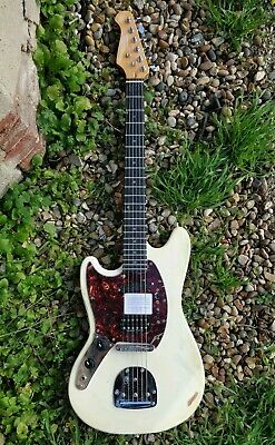 HB MS 60 electric guitar left hand (Seymour Duncan JB) inspired Mustang