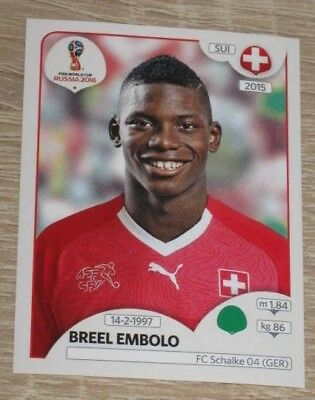 Panini WM 2018 World Cup Russia Breel Embolo Schweiz Sticker 388