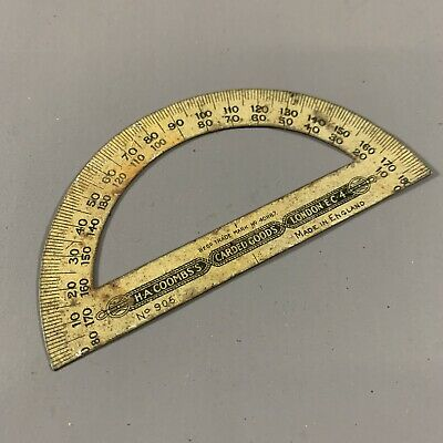 ANTIQUE c.1900's H.A.COOMBS'S CARDED GOODS LONDON E.C.4 ADVERTISING PROTRACTOR