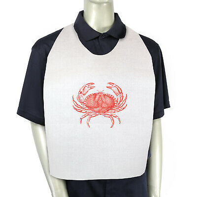 Royal 15'' x 30'' Paper Adult Bibs with Crab Design, Case of 500