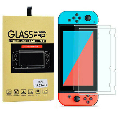 2 PACKS Nintendo Switch Premium Tempered Ultra Clear Glass Screen Protector