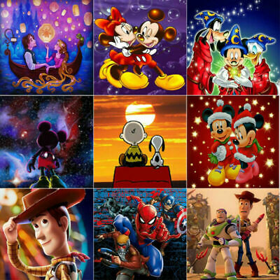 Full Drill 5D Diamond Painting Crafts Kits Embroidery Wall Decors Cartoon Gifts