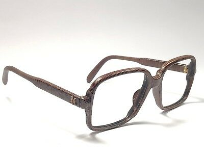 Vintage Maxims's Real Lizard Leather Prescription Frame Rx 1980'S France