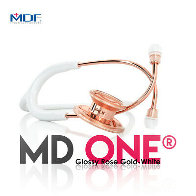 MDF777RG29 White and Rose Gold MD One Stethoscope for Adult Patients