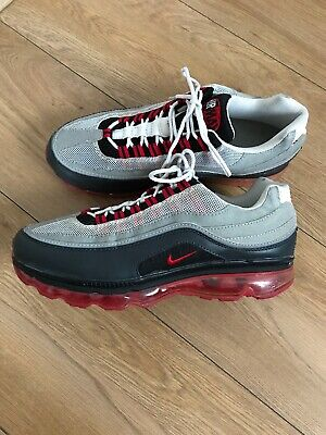 MEN NIKE AIR Max 95 Trainers , Greyblackred Size Uk 10