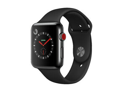 Apple Watch Series 3 (GPS+Cellular) Space Black Stainless Steel 42 mm Sport Band