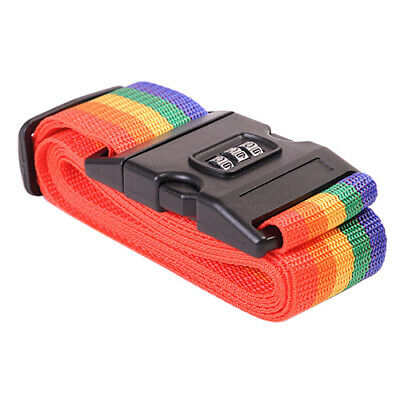 Luggage Suitcase Baggage Cross Strap Belt With Secure Coded Lock Anti Lost
