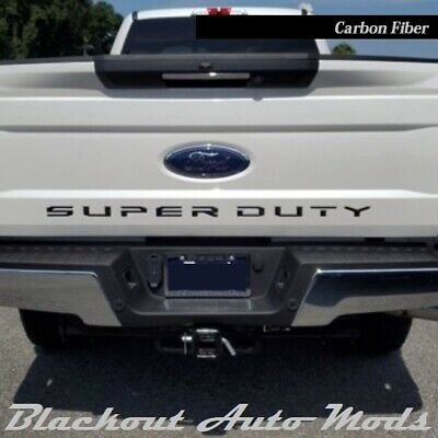 Carbon Fiber  2008-2016 Ford F250 Super Duty Premium Hood Inserts ABS Letters
