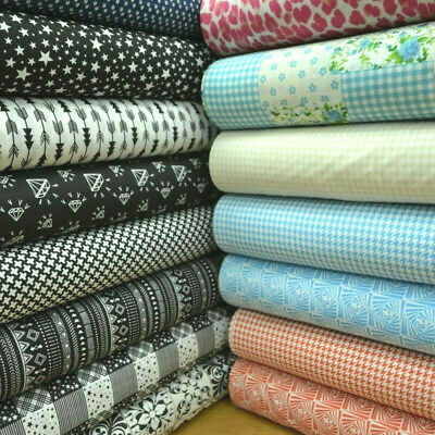 15 Designs 100% Cotton Mixed Designs Prints Fabric Material 140cm wide