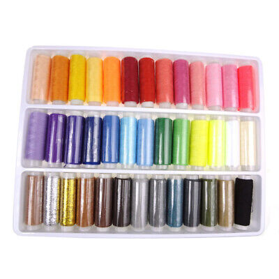 39Colors Spools High Quality Sewing Pure Cotton Thread Reel Home Sewing Tool Set