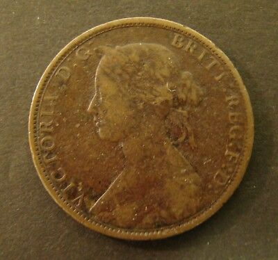 1862 NOVA SCOTIA CENT   VF   Canada  Foreign Coin  One Cent  Large   1c