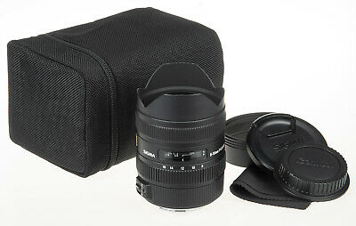 Sigma 8-16mm f/4.5-5.6 DC HSM Lens for Canon +pouch, caps *good condition*
