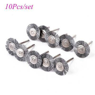 10Pc Stainless Steel Abrasive Steel Wire Wheel Rust Cleaner for Drill Hand Tools