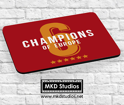Liverpool 6 Times - Champions of Europe - Mousemat
