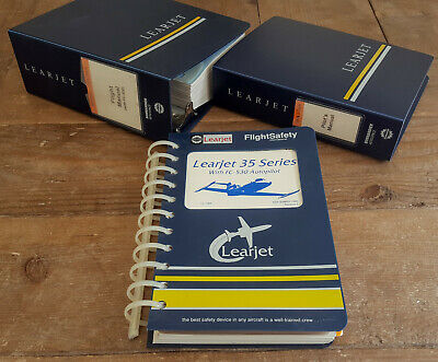 Lear Jet 35 Flight Manual set - New Old Stock