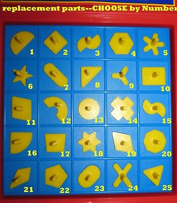 Milton Bradley PERFECTION GAME Replacement Pieces ~ Choose The Shapes You Need!