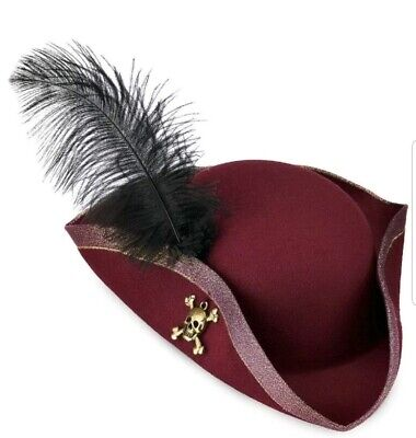 NEW Disney Parks REDD Pirates of the Caribbean Adult Feather Hat Costume Redhead