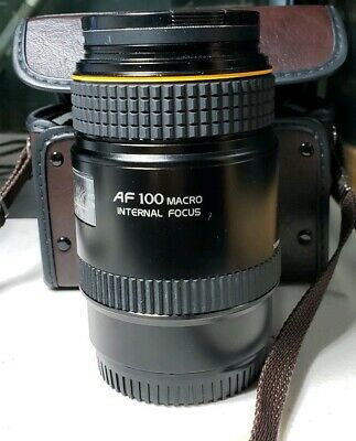 Tokina AT-X AF 100mm f/2.8 Macro Lens Minolta/Sony Near Mint