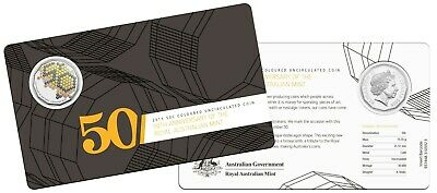 2015 ROYAL AUSTRALIAN MINT 50 YEARS ANNIVERSARY 50 c CENTS UNCIRCULATED COIN