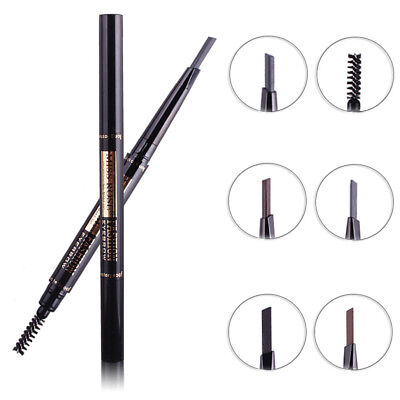 Fj- Ln_ Uk_ Women Double Ended Eyebrow Pencil With Brush Rotating Automatic Make