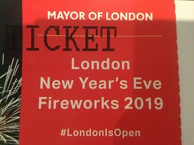 London Firework ticket 2019/2020 Red Zone