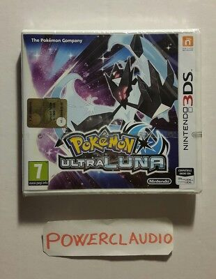 POKEMON ULTRALUNA ita NUOVO SIGILLATO new sealed Nintendo 3Ds xl 2ds ULTRA LUNA