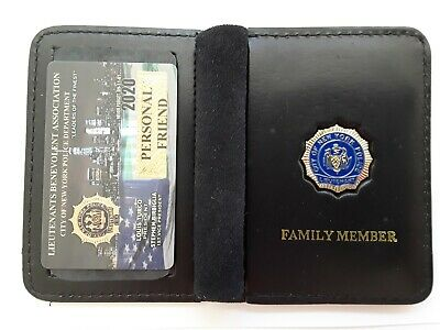 1 New Lba Personal Friend Card With Leather Family Wallet Cea Sba Dea Pba Card