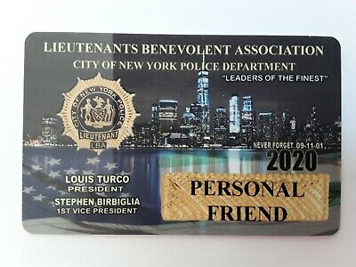! Authentic 2020 Lba Lieutenants  Personal Friend Card  Not Cea Sba Dea Pba Card