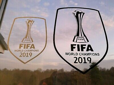 New Colour GOLD - Liverpool FC, FIFA World Champions 2019 Decals - LFC