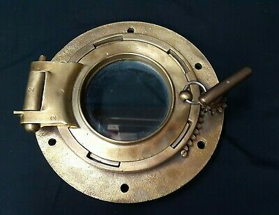 Solid Brass With Glass Porthole With Gear Opening