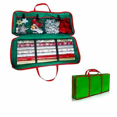 BNWT Christmas /& Birthday Wrapping Paper Storage Organiser Bag Gift Wrap Tags