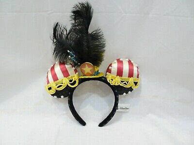 Disney Parks Mickey Mouse Minnie Circus Leader Timothy Q Dumbo Hat Headband Ears