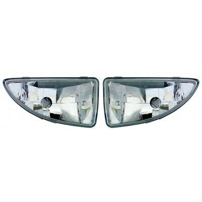 Fits 2000-2004 Ford Focus Pair Fog Lights Driver and Passenger Side Assembly Uni