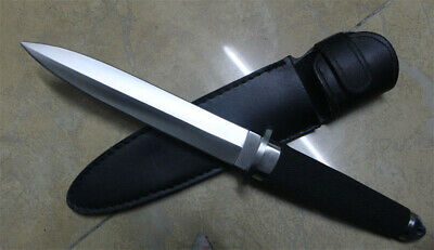13''New ABS Handle Military Boot Dagger Survival Fixed Bowie Hunting Knife VTH48