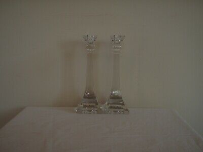 Villeroy and Boch Set of 2 Unused Crystal Candlesticks Approx 20cm Tall