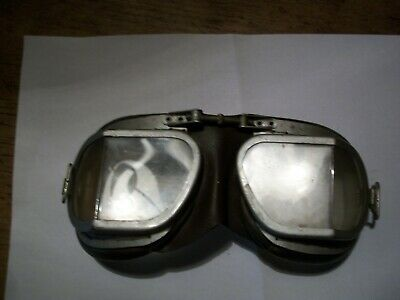 Stadium Classic Mk 9 Motorcyclist / Flyer Leather goggles - need a strap