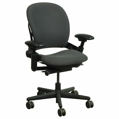 Steelcase Leap Chair, -Open Box- Fully Loaded Black Fabric